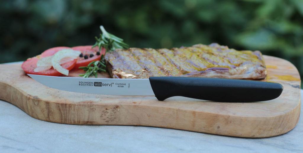 6268 Steakmesser Griff schwarz LRes
